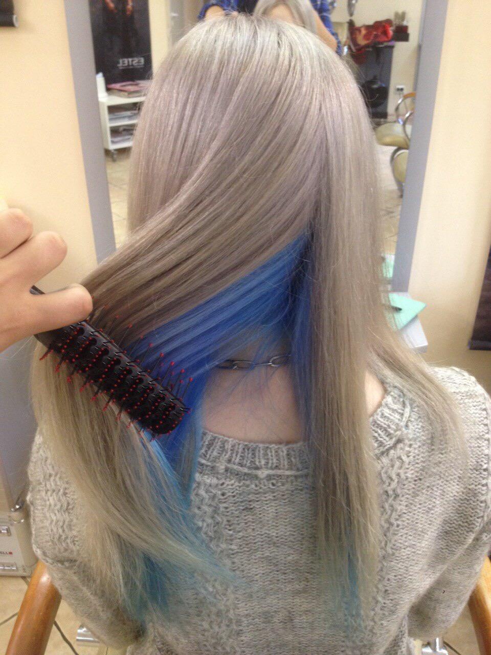 Окрашивание омбре: переход волос от темного к светлому 38